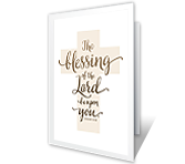 The Blessing of the Lord printable card