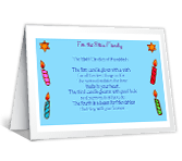 The Eight Candles greeting card