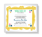 "The ""You Did It"" Certificate certificate"