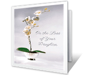 To Comfort You in the Loss of Your Daughter printable card