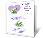 To Loving Husband greeting card