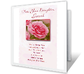 To Mom From Daughter greeting card