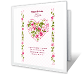 Treasured Granddaughter printable card