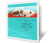 Twice as Beautiful printable card