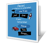Two Things to Remember printable card