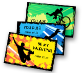 Valentine Extreme Sports greeting card
