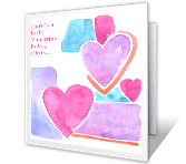 Valentine Hug printable card
