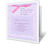 What Is a Niece? printable card