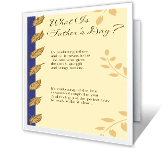 What Is Father's Day? greeting card