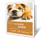 What Wrinkles? printable card