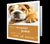 What Wrinkles? greeting card