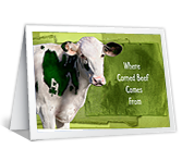Where Corned Beef Comes From printable card