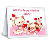 Will You Be My Valentine? printable card