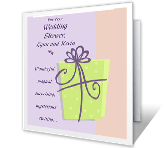 Wedding Shower Gift Card Message : Wishes for Both of You greeting card