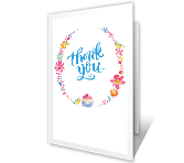 With Thanks! printable card