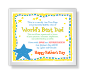 World's Best Dad printable card