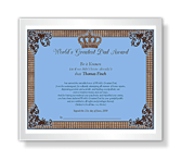 World's Greatest Dad Award printable card