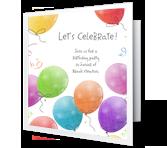 A Birthday Celebration invitation