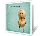 Aww Nuts, Miss You! greeting card