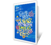 Bright and Happy Hanukkah greeting card