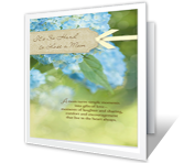 Comfort and Peace greeting card