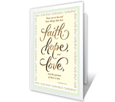 Faith, Hope, Love greeting card