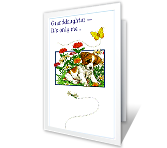 For Granddaughter greeting card