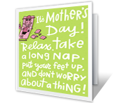 Funny Mother's Day Card greeting card