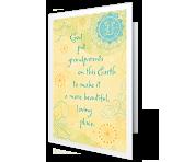 God Made Grandparents greeting card