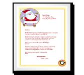 Greetings from Santa stationery