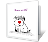 Know What? greeting card