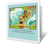 Little Moses greeting card