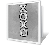 XOXO greeting card