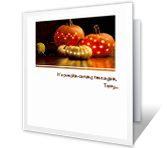 Pumpkin-carving Time greeting card