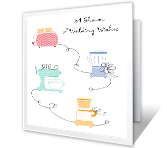 Shower of Wedding Wishes greeting card
