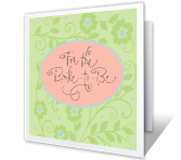 Sweet Wishes for the Bride greeting card