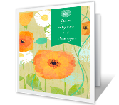 Thinking Good Thoughts greeting card