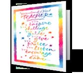 Yay for Teachers greeting card