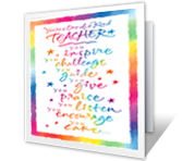 Yay for Teachers printable card