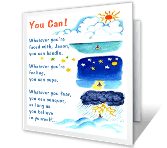 You Can! printable card