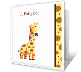 You Have a New Baby Boy! greeting card