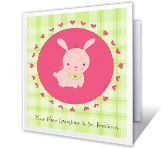 You Have a New Baby Girl! greeting card