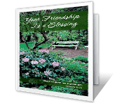 Your Friendship Is a Blessing printable card