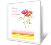You're a Loving Daughter greeting card