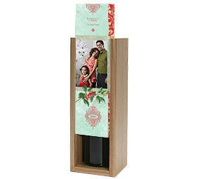 Classical Holly Wine Box