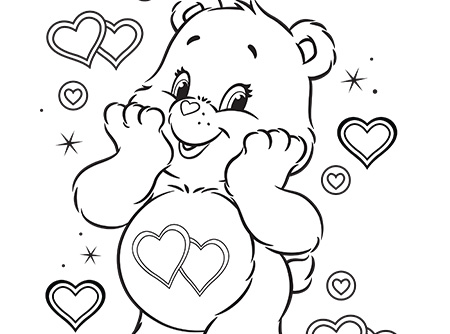 Meet Lotsa Heart Elephant Care Bears Coloring Page