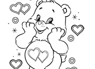 Warm Winter Wishes Care Bears Coloring Pages