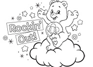 Harmony Rockin' Out! Care Bears Coloring Pages