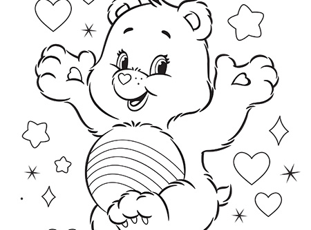 Never Fear, Cheer is Here! Care Bears Activity Care Bears Coloring ...