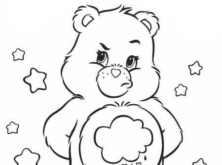 Some Days Are Grumpy Bear Coloring Sheet